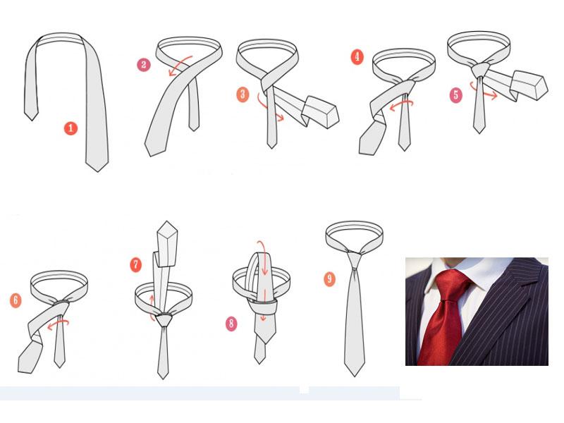 Завязать галстук из ленты своими руками 62